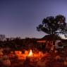 Carry Me Camper Soft Top Camper setup in the Australian bush at night
